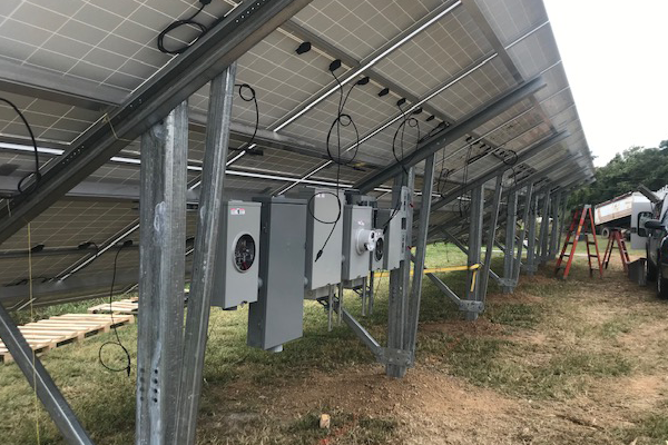 13.7 KW ground mount solar array