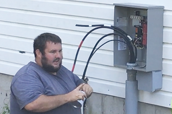 new breaker install for back-up generator and solar connections